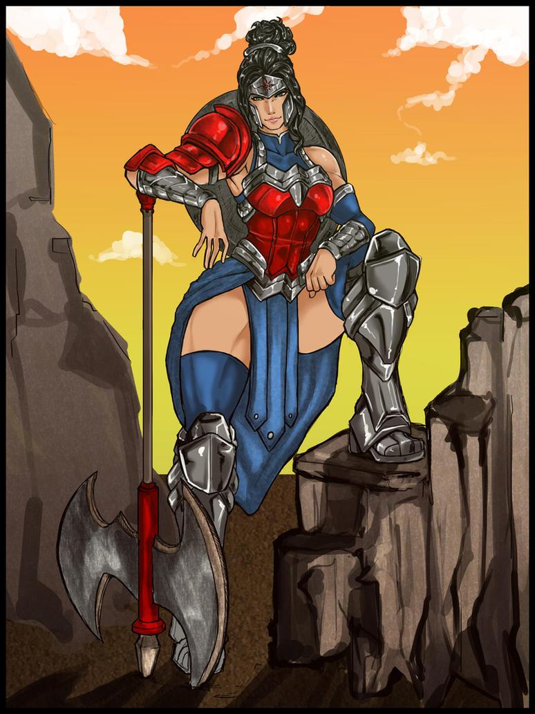 Wonder Woman redesign by Kiarou