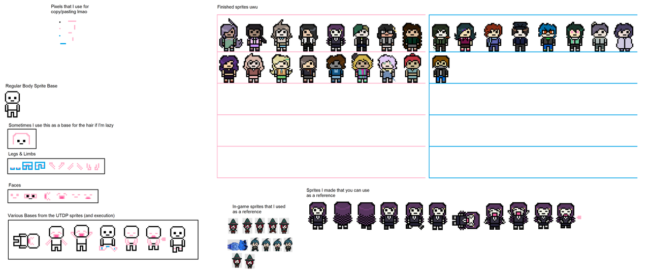 Danganronpa Sprite Bases (Transparent) by LunaMoonreader on DeviantArt