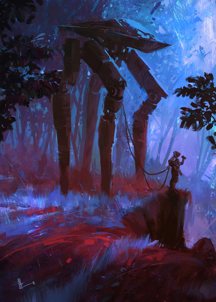 Hunting In The Moonlight by amirzand
