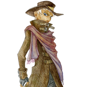 Man in hat portrait
