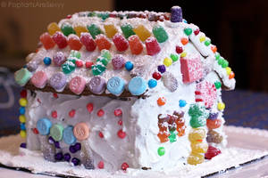 Gingerbread House Fail. by PoptartsAreSexyy