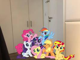 Ponies by my doorstep by Rizo2612Studios