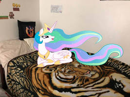 Princess Celestia on my Bed by Rizo2612Studios