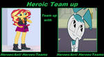 Heroic Team Up: Sunset Shimmer and Jenny Wakeman