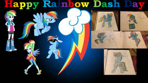 Happy Rainbow Dash Day Collage by Rizo2612Studios