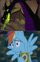 Rainbow Dash gets frighten by Maleficent by Rizo2612Studios
