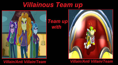 Villainous Team Up: The Dazzlings and Bowser Jr by Rizo2612Studios