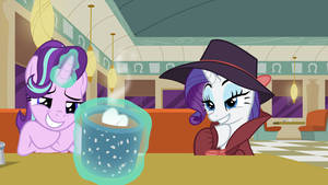 Rarity and Starlight Glimmer in the Cafe (POV)
