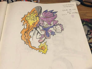Rizo2612 Studios' Blaze the Cat Drawing 2