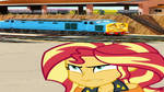 Sunset Shimmer mad at Old Stuck Up by Rizo2612Studios