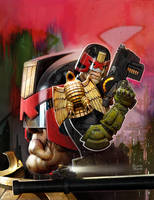 Dredd Meg Cover 378judge dredd by ryanbrown-colour