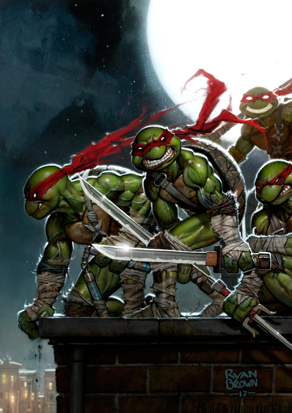 Ninja Turtle Painting by ryanbrowncolour on DeviantArt