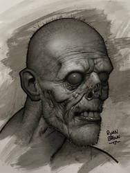 another zombie sketch by ryanbrown-colour