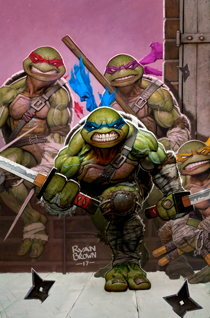 ninja turtles cover for idw by ryanbrown-colour