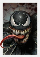 Venom pinup by ryanbrown-colour