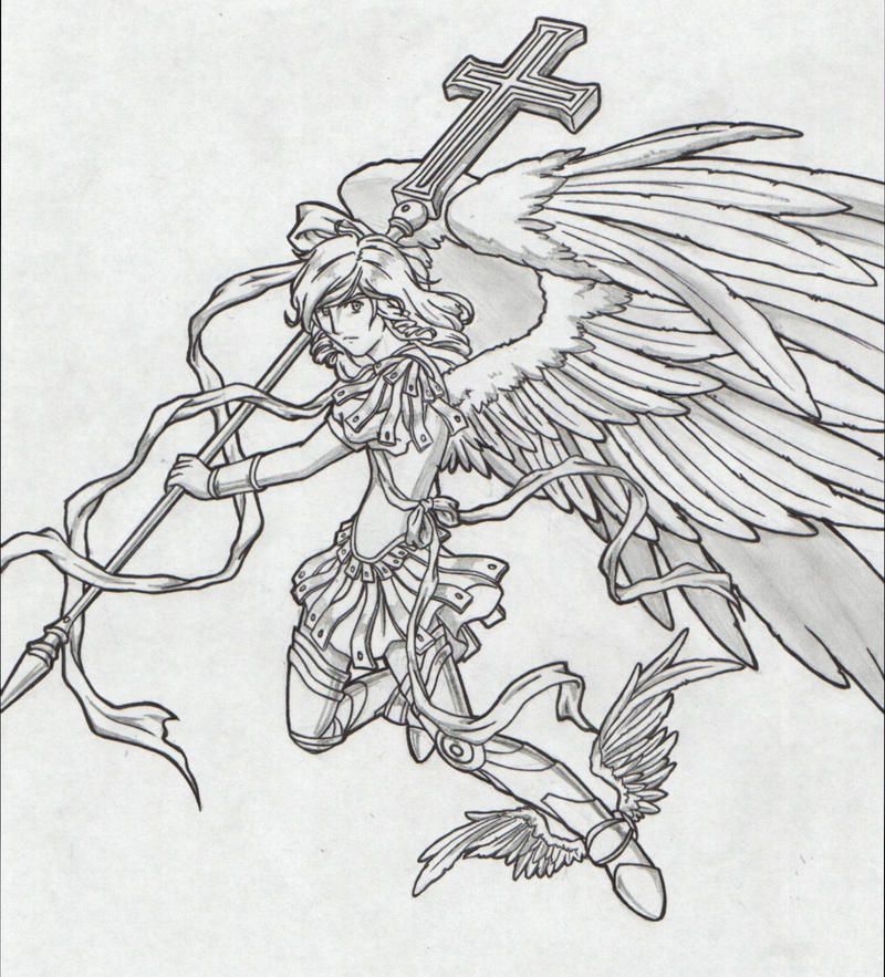 St Michael The Archangel Drawing Saint michael archangel 2 by