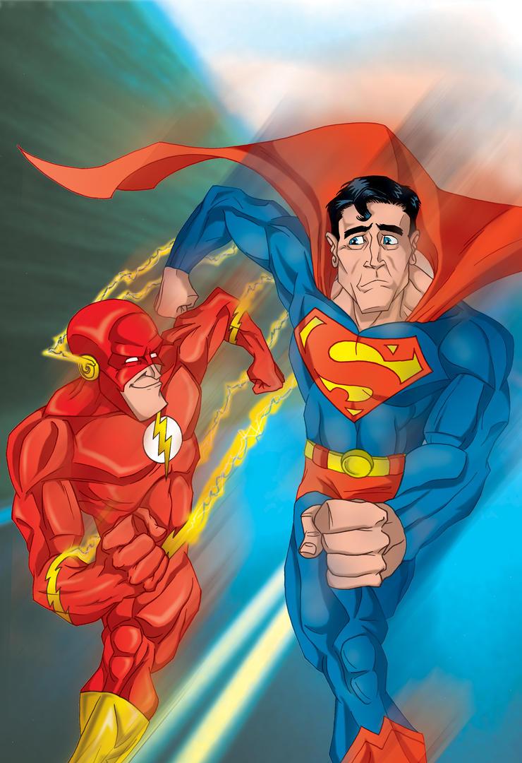 Flash vs Superman by mdeabreu on deviantART