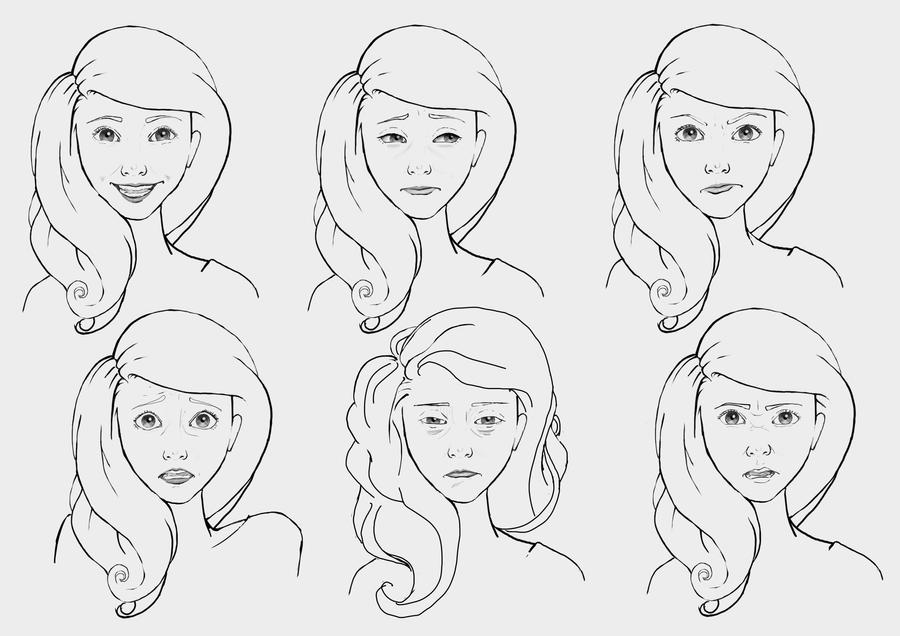 Character Design Emotions : Nora character design emotions by arucruenta on deviantart