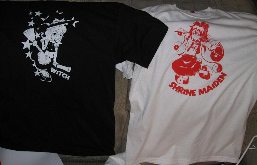 Touhou Shirts-Marisa and Reimu