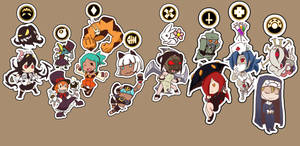 Skull Girls Charms: A more complete set