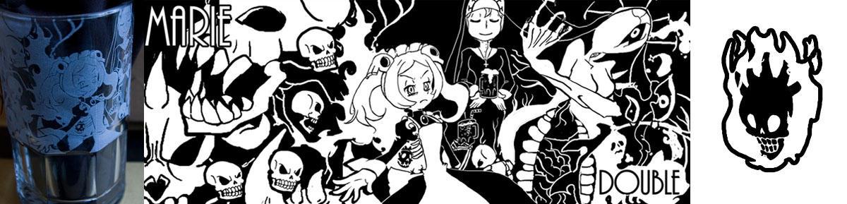 Skullgirls mug: Marie and Double