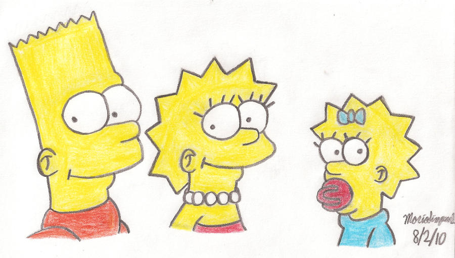 simpsons kids drawing by mariosimpson1