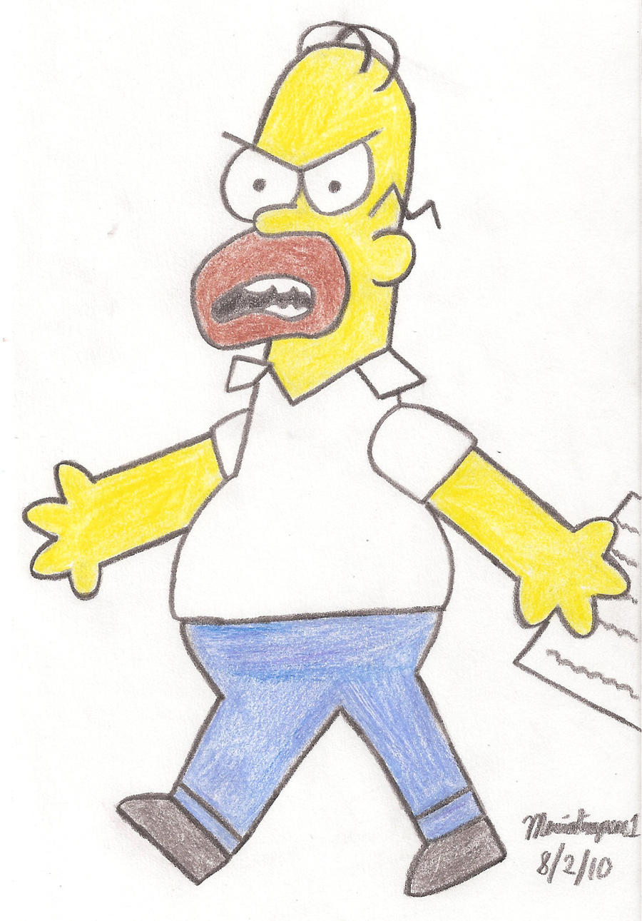 Angry Dad Drawing by MarioSimpson1