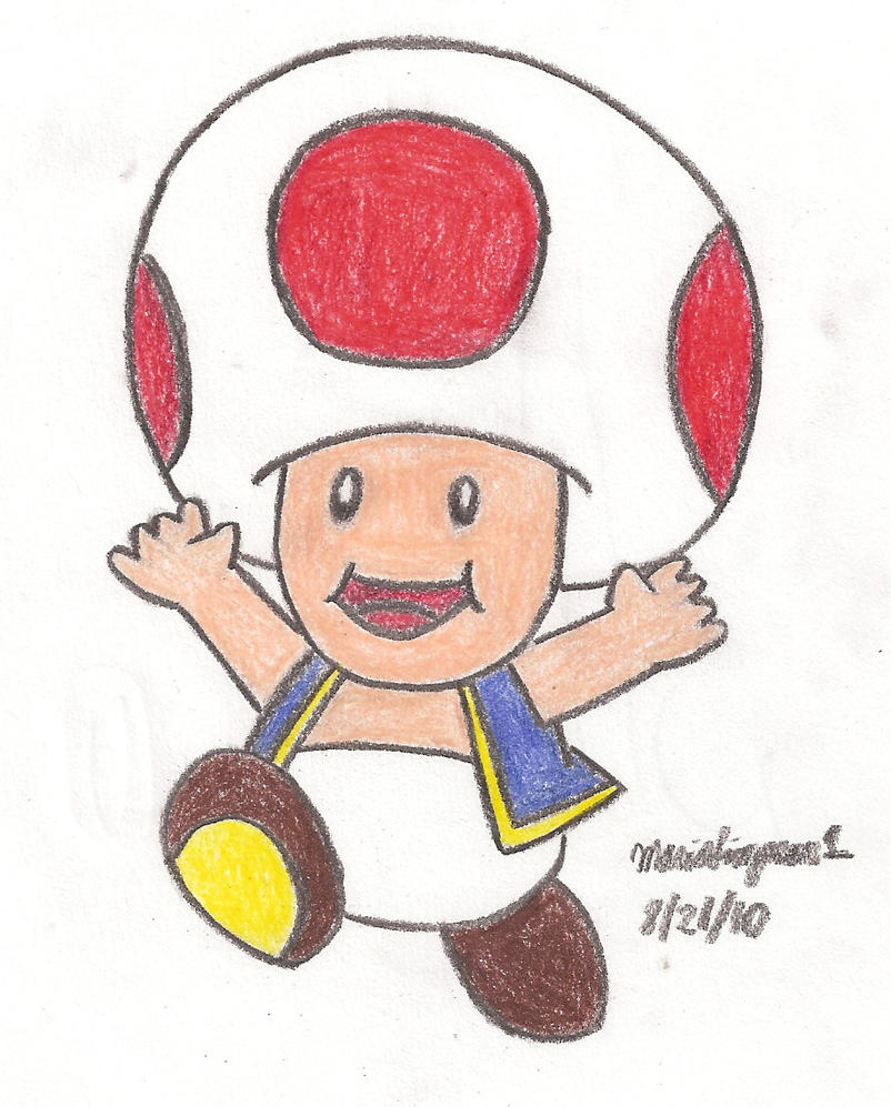 Toad Drawing by MarioSimpson1