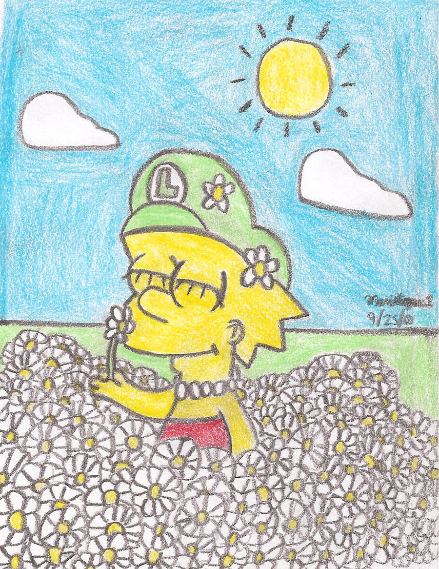 Lisa's Flower Garden by MarioSimpson1
