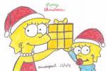 Lisa and Maggie Christmas