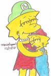 Lisa and Maggie Hugging