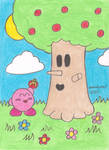 Kirby and Whispy Woods