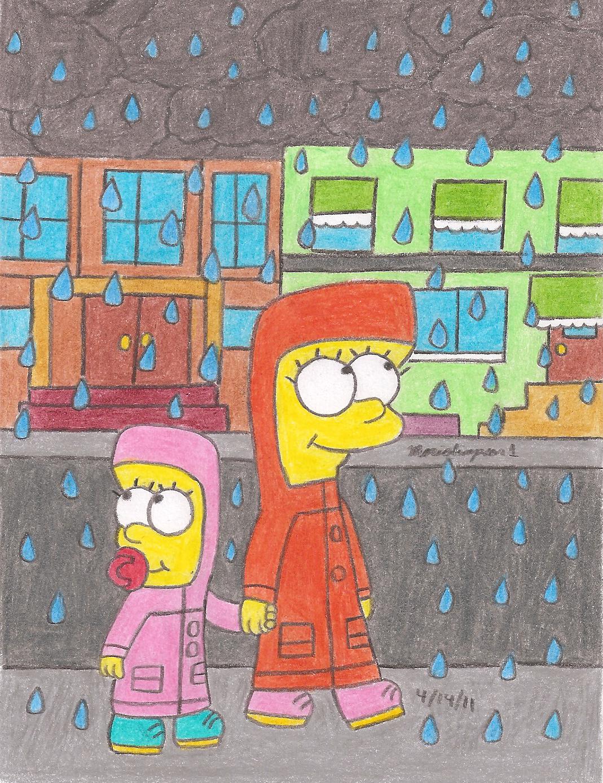 Rainy Day in Springfield by MarioSimpson1