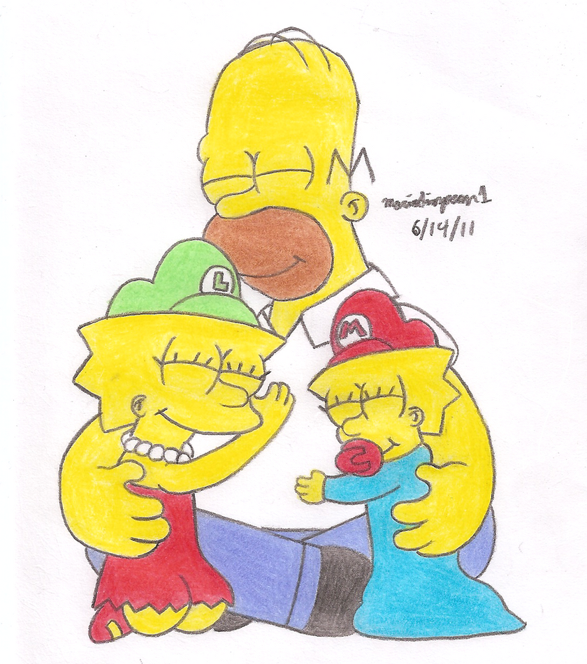 Homer's Two Daughters by MarioSimpson1