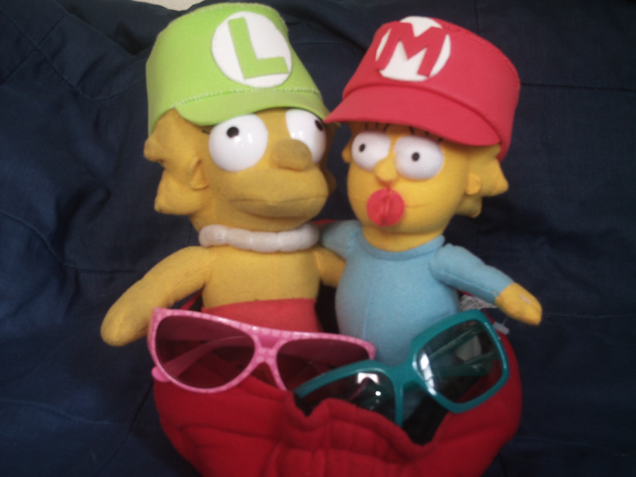 My Lisa and Maggie Dolls by MarioSimpson1