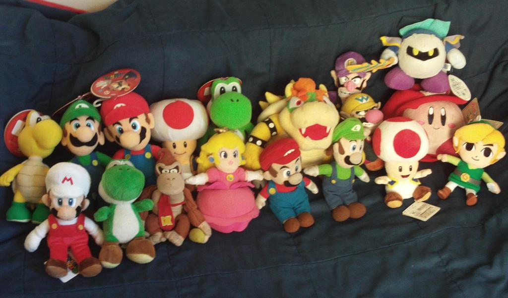 My Nintendo Plushies by MarioSimpson1