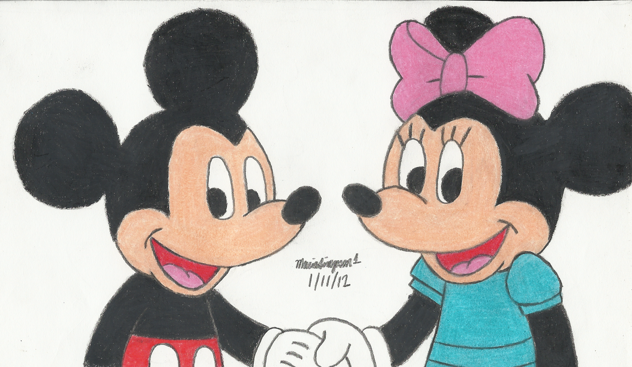 Minnie And Mickey Tumblr Drawing | www.imgkid.com - The ...