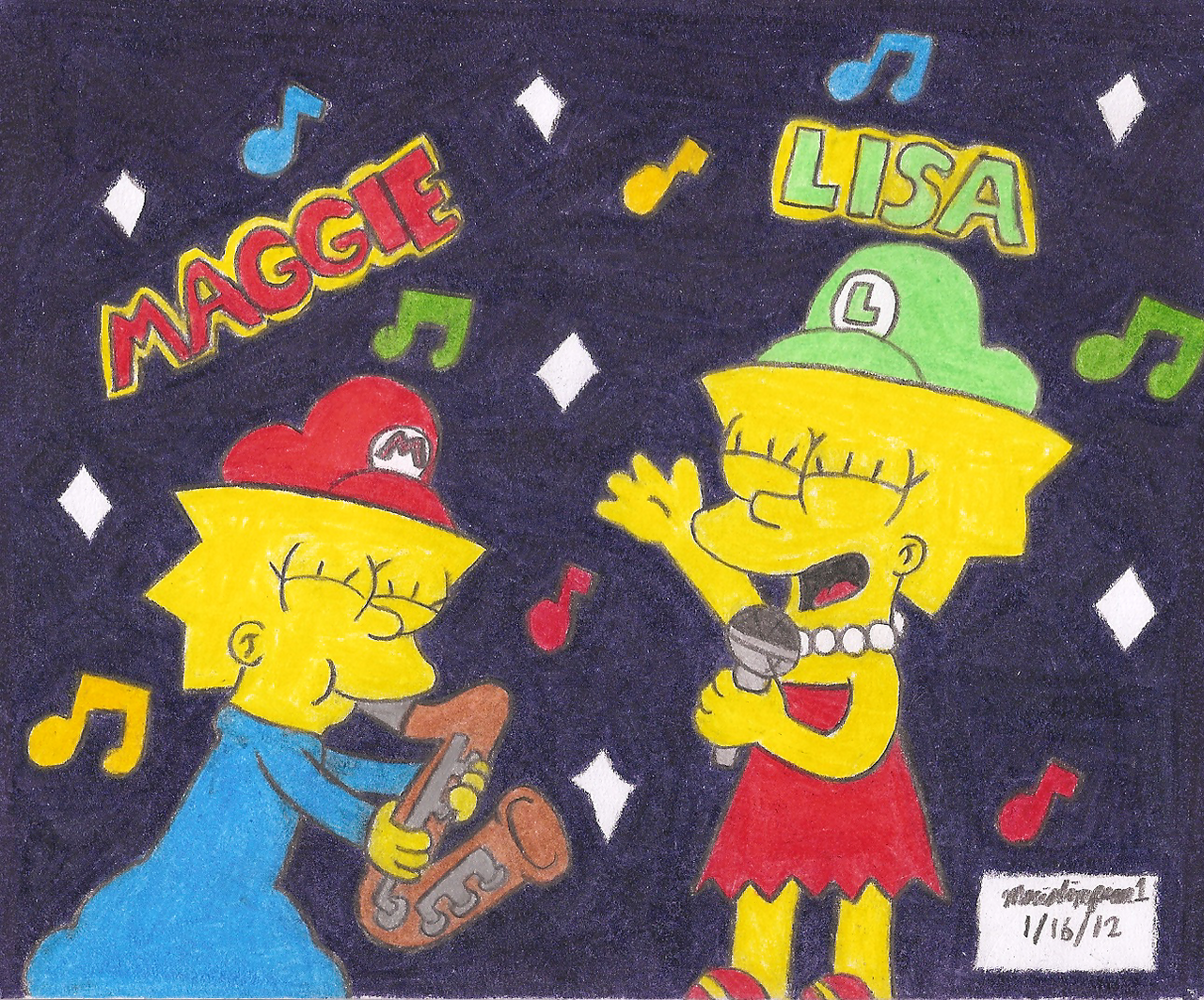 Little Singer Lisa by MarioSimpson1
