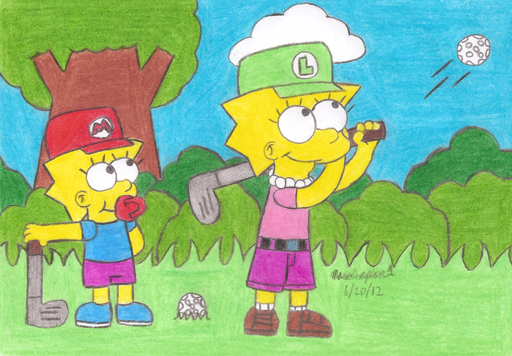 Little Golfers by MarioSimpson1