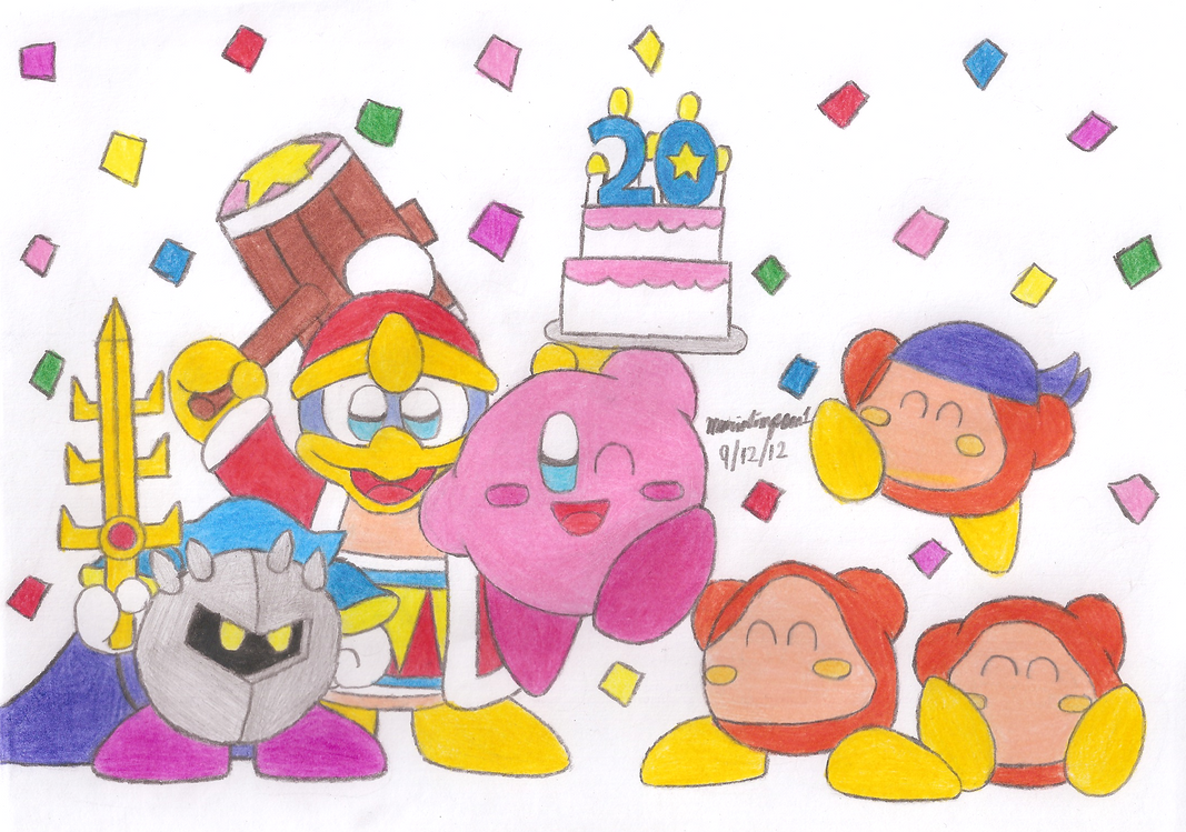 Kirby's 20th Anniversary by MarioSimpson1