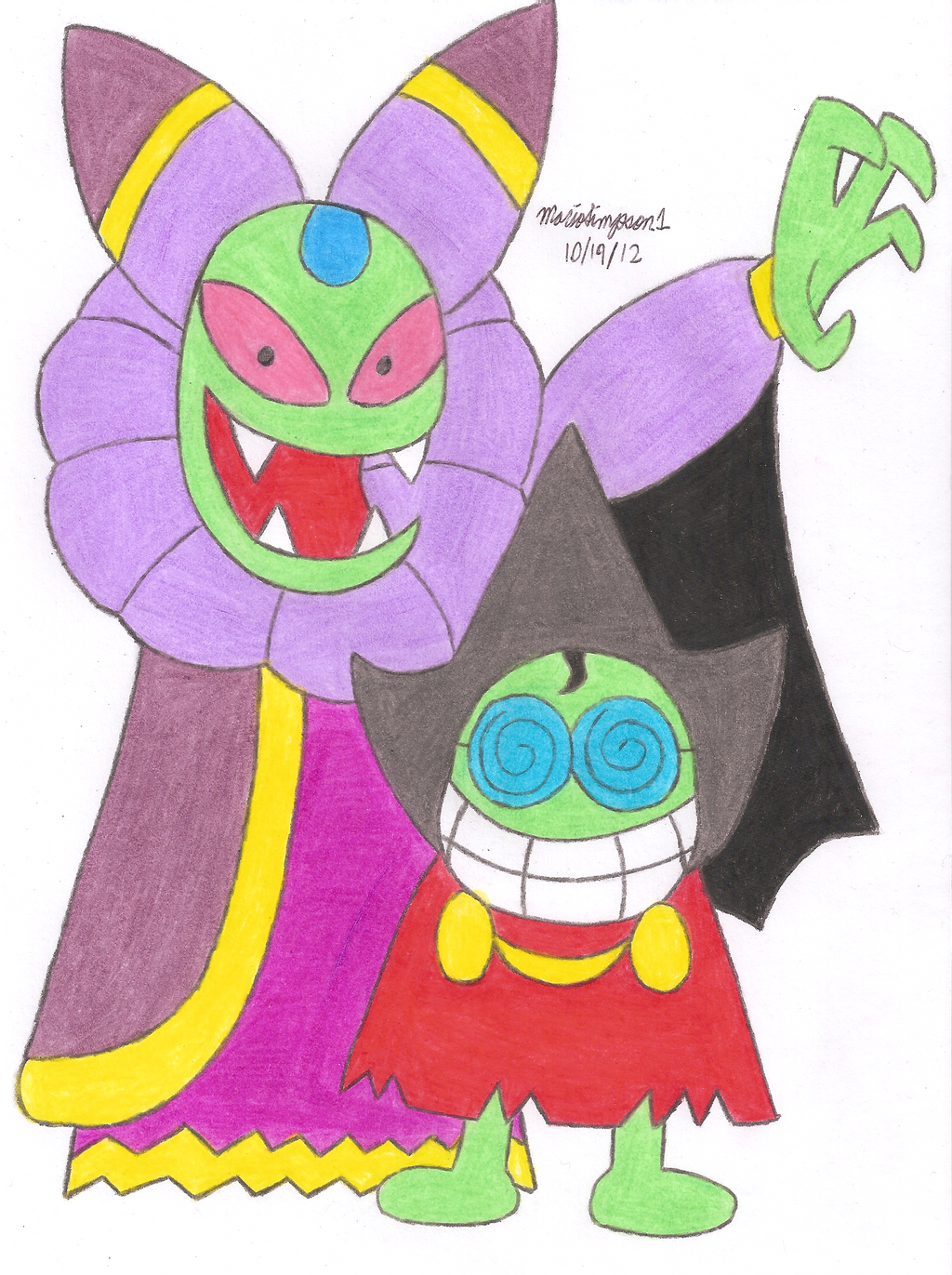 Cackletta and Fawful by MarioSimpson1