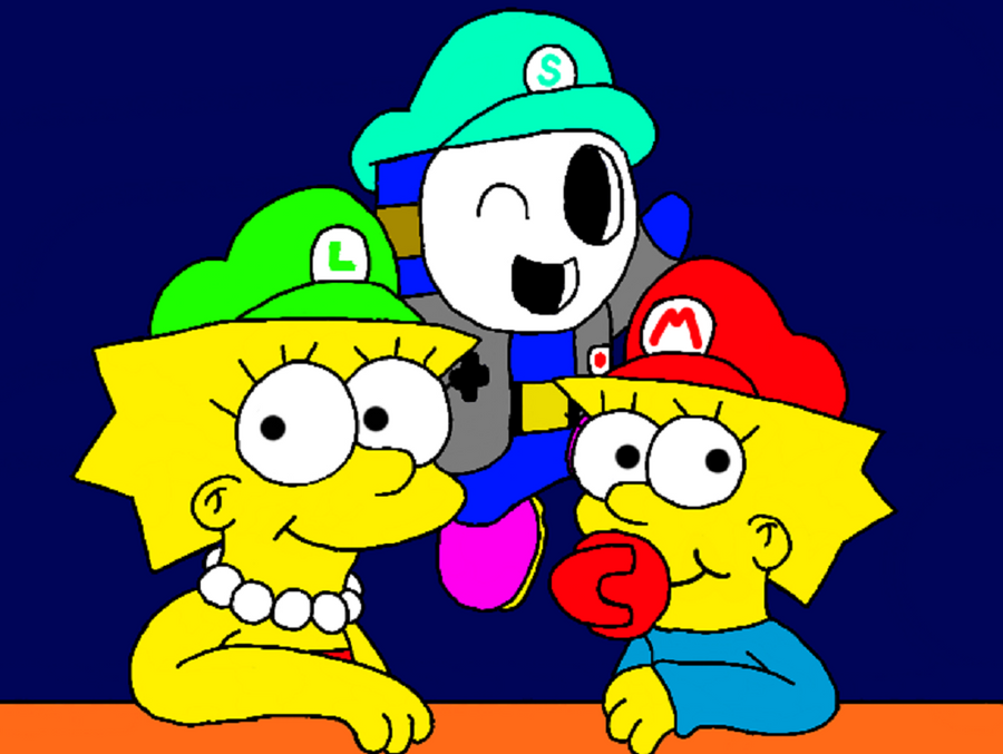 Me with Lisa and Maggie by MarioSimpson1