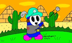 Golfing at Shy Guy Desert