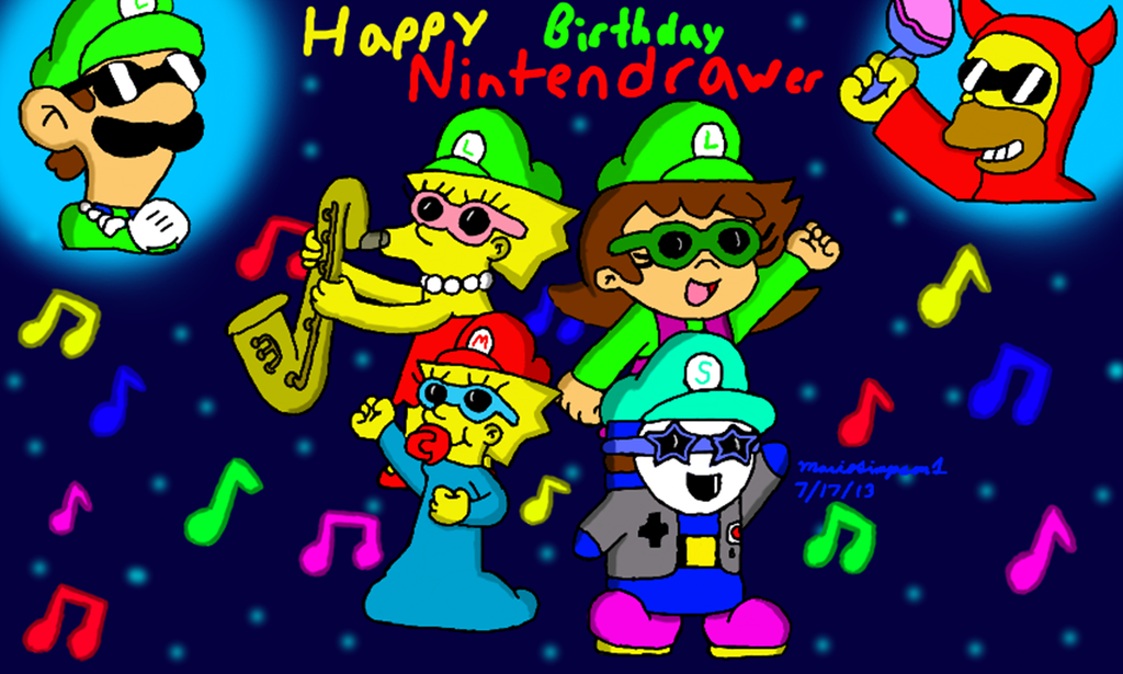 Partying for Nintendrawer by MarioSimpson1