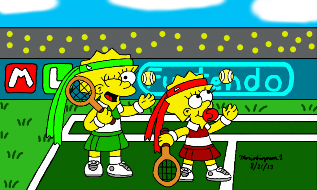 Little Tennis Players by MarioSimpson1