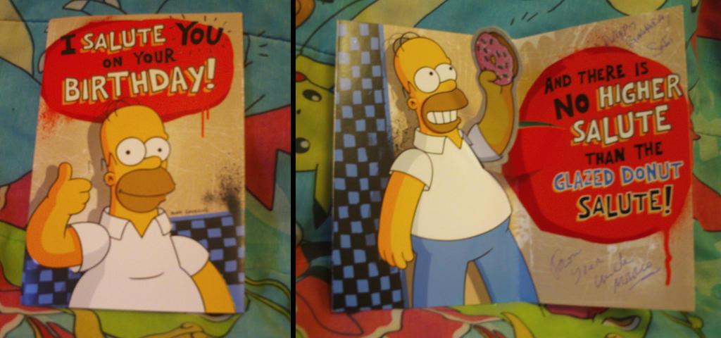 My Homer Simpson Birthday Card By Mariosimpson1 On Deviantart