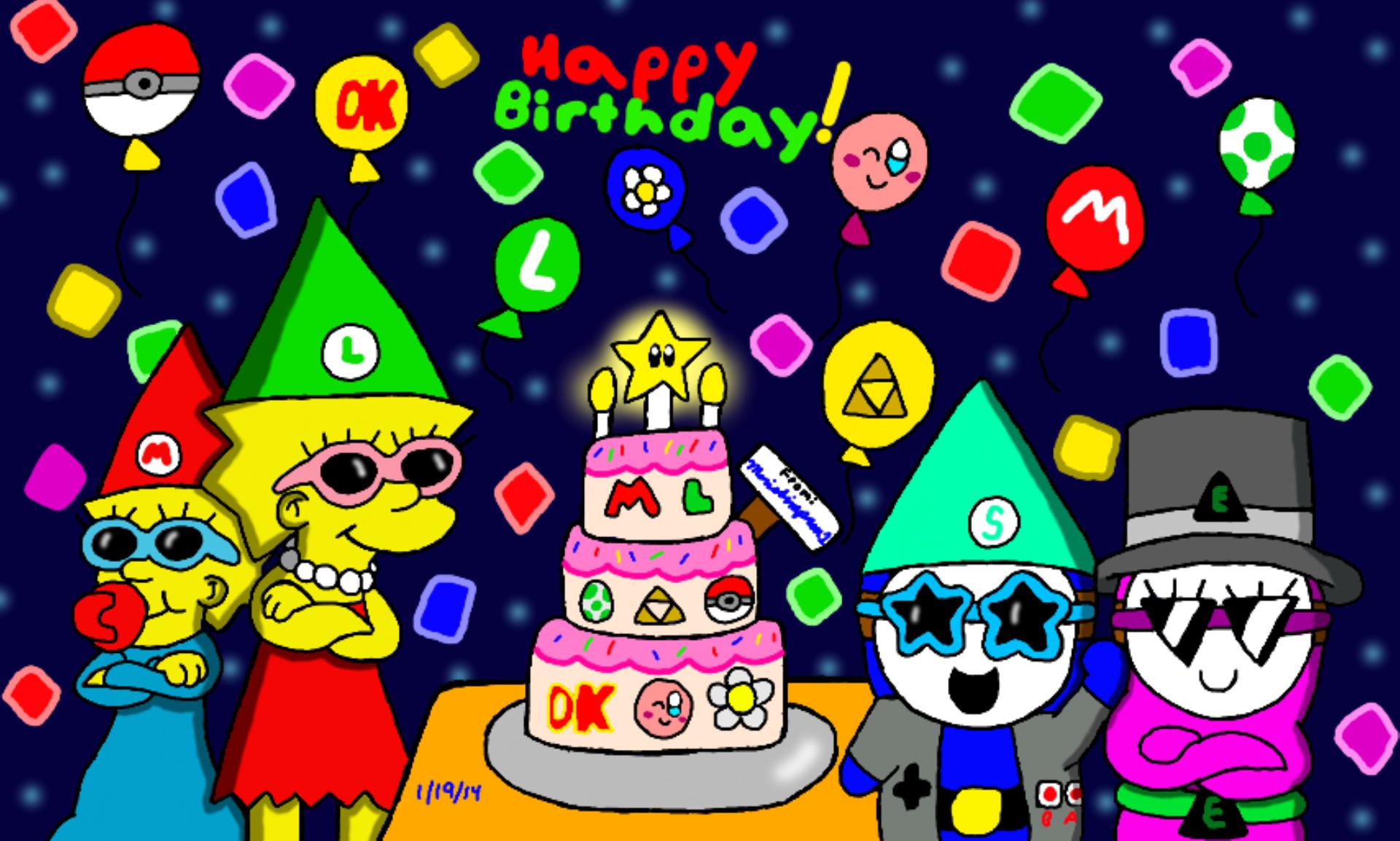 Happy Birthday Cake Mario