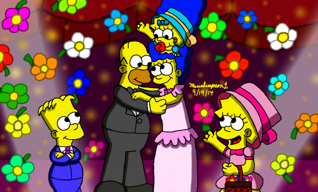 Homer and Marge's Wedding Anniversary by MarioSimpson1