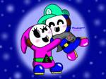 Shy Sibling Hug by MarioSimpson1