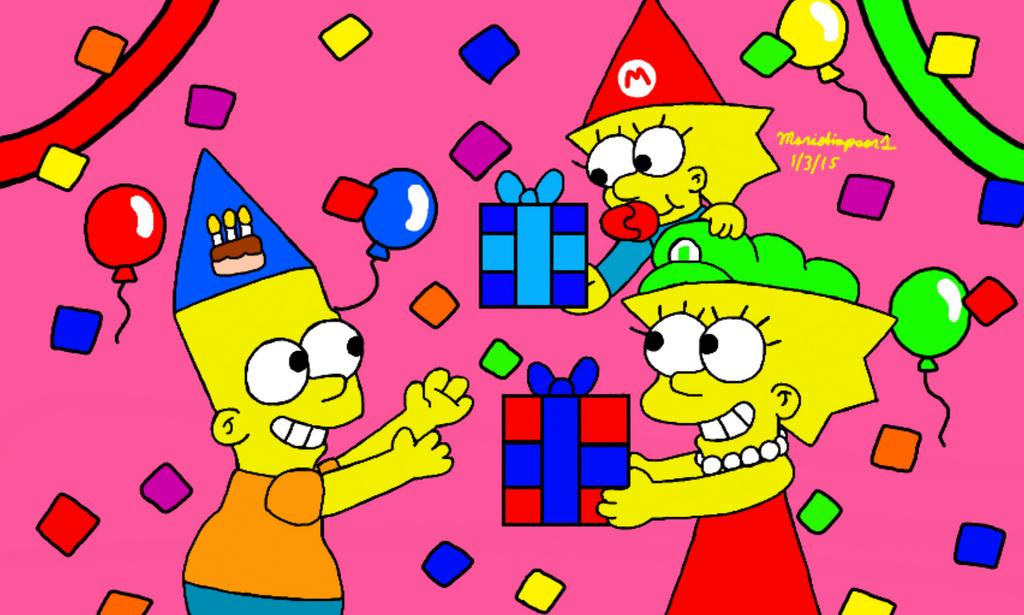 Bart's Birthday Presents by MarioSimpson1